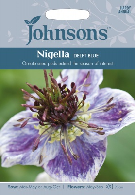 Nigella 'Delft Blue' Seeds by Johnsons