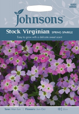 Stock Virginian 'Spring Sparkle' Seeds by Johnsons