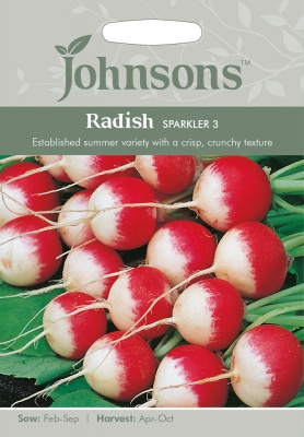 Radish Seeds 'Sparkler 3' by Johnsons