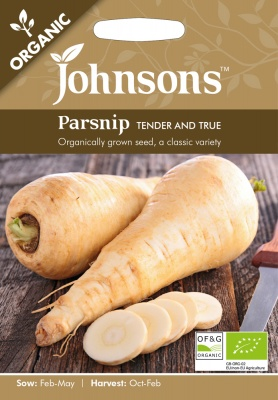 Organic Parsnip Seeds Tender and True by Johnsons