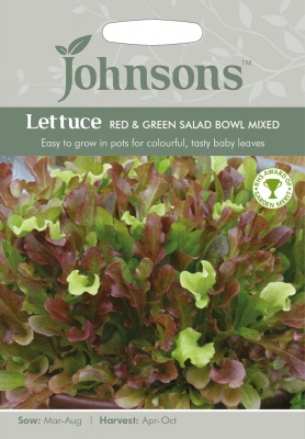 Lettuce 'Red & Green Salad Bowl Mixed' - Johnson's Seeds