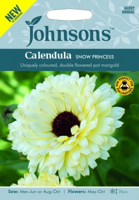 Calendula Snow Princess Seeds by Johnsons