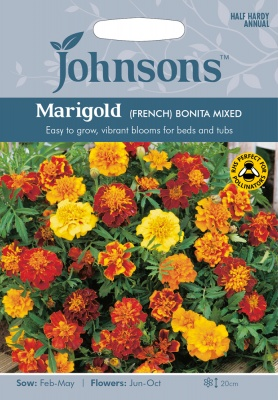Marigold 'French Bonita Mixed' Seeds by Johnsons