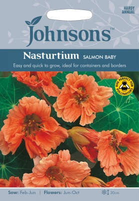 Nasturtium 'Salmon Baby' Seeds by Johnsons