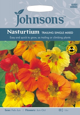 Nasturtium Seeds Trailing Single Mixed by Johnsons