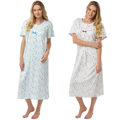 100% Cotton Short Sleeve Nightdress