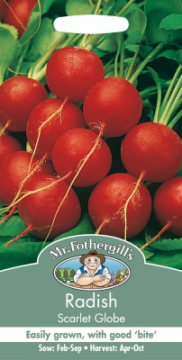 Radish Seeds Scarlet Globe by Mr Fothergills