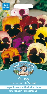 Pansy Seeds Swiss Giants Mixed by Mr Fothergill's