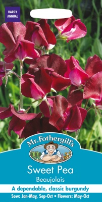 Sweet Pea Seeds 'Beaujolais' by Mr Fothergill's