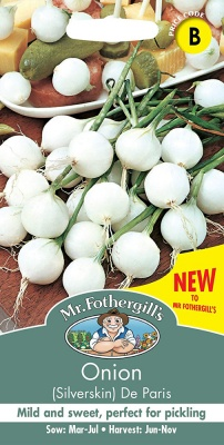 Silverskin Onion Seeds De Paris by Mr Fothergill's