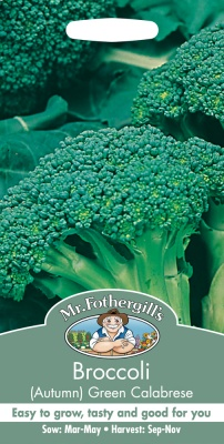 Broccoli Seeds Autumn Green Calabrese by Mr Fothergill's