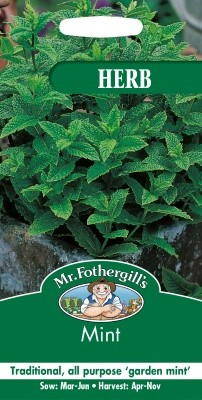 Mint Seeds Herb By Mr Fothergill's