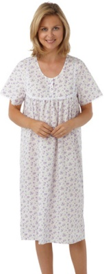 Plus Size Poly-Cotton Short Sleeve Nightdress 32-34