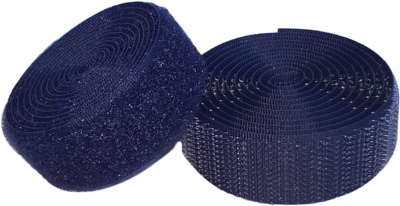 Sew On Hook & Loop Tape - Navy Blue 20mm Wide In Various Lengths
