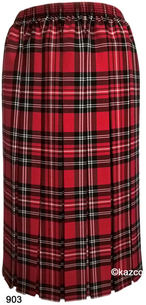 65b5c9f7476dab Tartan Pleated Skirts For The Older Women Ladies New Check Skirt Red ...