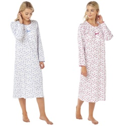 Long Sleeve Cotton Nightdress by Marlon