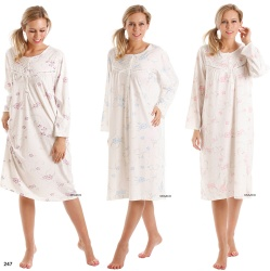 Long Sleeve Jersey Nightdress