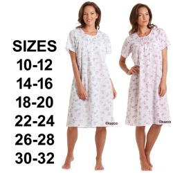 Short Sleeve Poly Cotton Nightdress Sizes 10-32