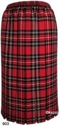 Tartan Pleated Skirts For The Older Women Ladies New Check Skirt Red Blue Black
