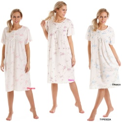 Short Sleeve Jersey Nightdress By Lady Olga