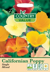 California Poppy Seeds Single Mixed by Country Value