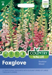 Foxglove Seeds Excelsior Mixed by Country Value