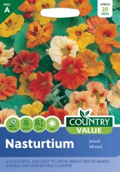 Nasturtium Seeds Jewel Mixed by Country Value