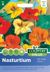 Nasturtium Seeds Tall Single Mixed by Country Value