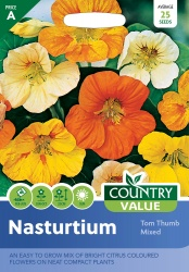 Nasturtium Seeds Tom Thumb Mixed by Country Value