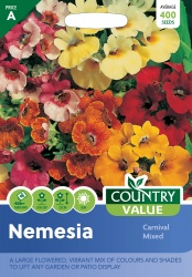 Nemesia Seeds Carnival Mixed by Country Value