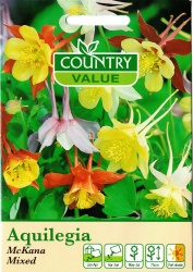 Aquilegia Seeds 'Mckana Mixed' by Country Value
