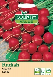 Radish Seeds Scarlet Globe by Country Value