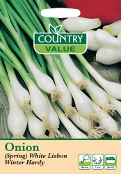 Spring Onion Seeds White Lisbon Winter Hardy by Country Value