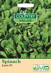 Spinach Seeds 'Lazio F1' by Country Value