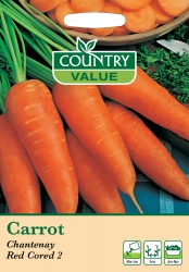 Carrot Seeds Chantenay Red Cored 2 by Country Value