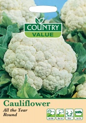 Cauliflower Seeds All The Year Round by Country Value
