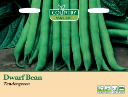 French Bean Dwarf 'Tendergreen' by Country Value