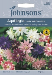 Aquilegia Nora Barlow Mixed by Johnsons Seeds