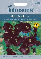 Hollyhock Seeds 'Nigra' by Johnsons