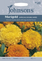 African Marigold Double Mixed Seeds by Johnsons