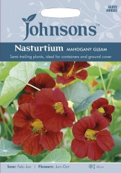 Nasturtium 'Mahogany Gleam' Seeds by Johnsons