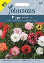 Poppy 'Can Can Mix' Seeds by Johnsons