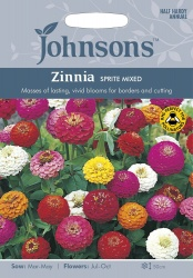 Zinnia Sprite Mixed Seeds by Johnsons
