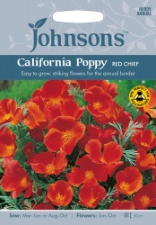 California Poppy Seeds 'Red Chief' by Johnsons