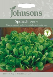 Spinach Seeds 'Lazio' F1 by Johnsons