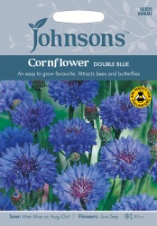 Cornflower Seeds 'Double Blue' by Johnsons