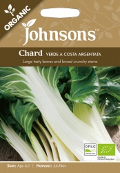 Organic Chard Seeds 'Verde A Costa Argentata by Johnsons