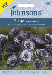 Poppy Seeds 'Amazing Grey' by Johnsons