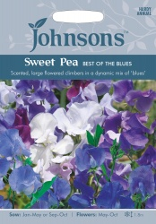 Sweet Pea Seeds 'Best Of The Blues' by Johnsons