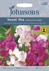 Sweet Pea Seeds 'Everlasting Mixed' by Johnsons